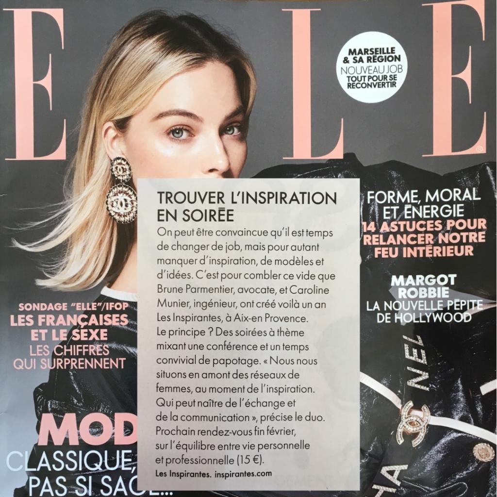 Les Inspirantes dans Elle février 2019